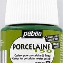 Краска под обжиг непрозрачная Porcelaine Pebeo 30, цвет - Оливковый, 45мл.