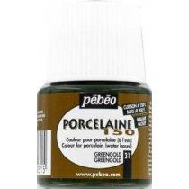 Краска под обжиг непрозрачная Porcelaine Pebeo 31, цвет - Золотисто-зеленый, 45мл.