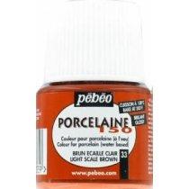 Краска под обжиг непрозрачная Porcelaine Pebeo 33, цвет - Красно-коричневый светлый, 45мл.