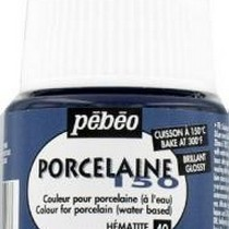 Краска под обжиг непрозрачная Porcelaine Pebeo 40, цвет - Серый гематит, 45мл.