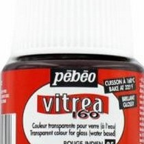 Краска для стекла под обжиг Vitrea Pebeo 05, цвет - индийский  красный, 45мл.
