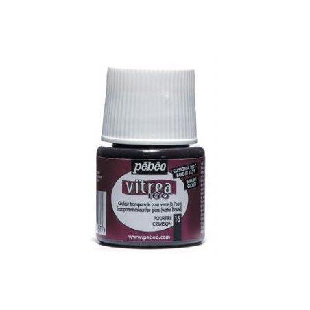 Краска для стекла под обжиг Vitrea Pebeo 16, цвет - пурпурный, 45мл.