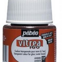 Краска для стекла под обжиг Vitrea Pebeo 17, цвет - янтарный