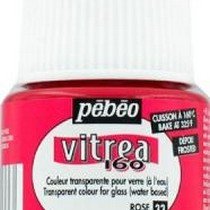 Краска для стекла под обжиг Матовая Vitrea Pebeo 33, цвет -  розовый, 45мл.