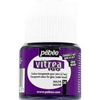 Краска для стекла под обжиг Матовая Vitrea Pebeo Розовая 33