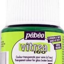 Краска для стекла под обжиг Матовая Vitrea Pebeo 38, цвет - анис