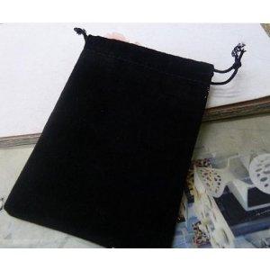 Мешочек велюровый, цвет- черный