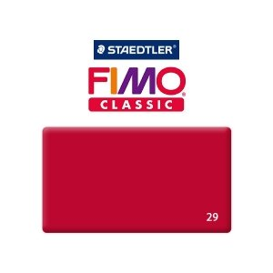 Полимерная глина Fimo Classic, 350г №29 - малиновый