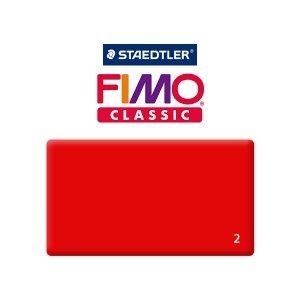 Полимерная глина Fimo Classic, 350г №2 - красный