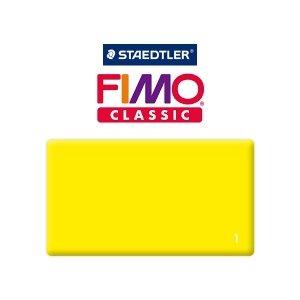 Полимерная глина Fimo Classic, 350г №1 - лимонный