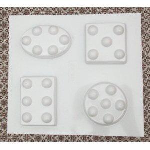 Пластиковая форма для массажного мыла  №600 332