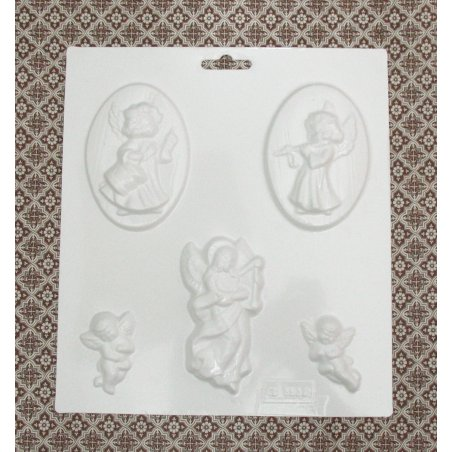 Пластиковая форма Ангелочки  №02 5538