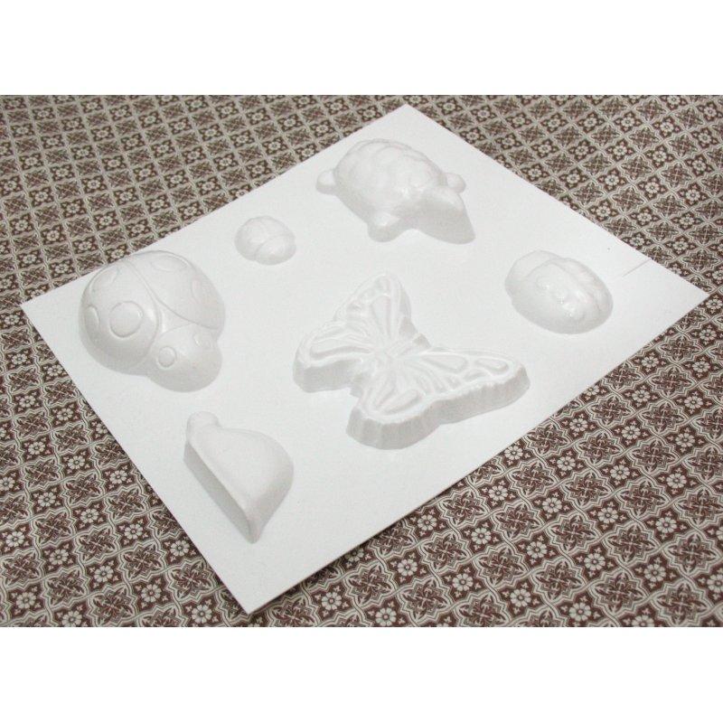 Пластиковая форма  Насекомые и черепаха №02 5533