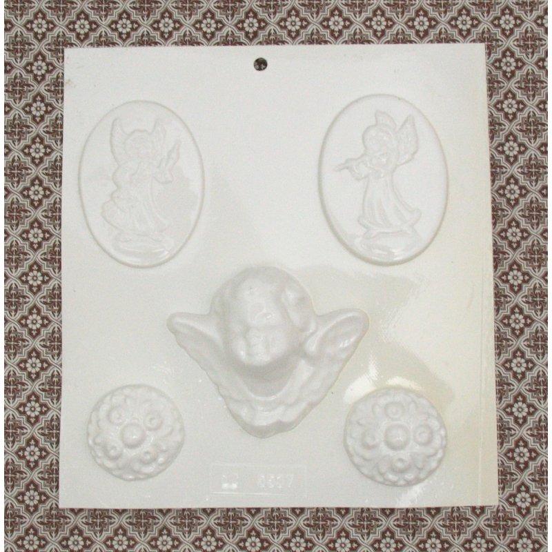 Пластиковая форма Ангелы и орнаменты  №02 5537