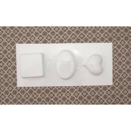 Пластиковая форма Сердце,Овал и Квадрат №02 5541