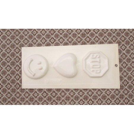 Пластиковая форма Значки  №02 5512