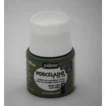 Краска под обжиг непрозрачная  Porcelaine Pebeo 25, цвет - Глиняно-зеленый, 45мл.