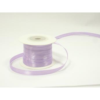 Атласная лента, цвет светло лиловый, 7мм