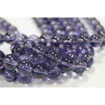Бусины стеклянные фиолетовые, 10 мм, №3