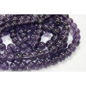 Бусины стекляные фиолетовые №16