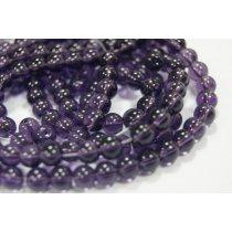 Бусины стеклянные фиолетовые, 8 мм, №16