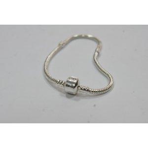 Основа для браслета пандора металлическая, цвет серебро, 19 см