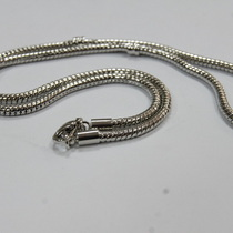 Основа для колье пандора металлическая, цвет сталь, 45 см