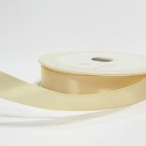 Атласная лента, цвет кремовый, 15мм
