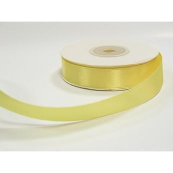 Атласная лента, цвет желтый, 15мм