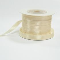 Атласная лента, цвет кремовый, 6мм