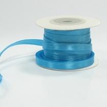 Атласная лента, цвет голубой, 7мм