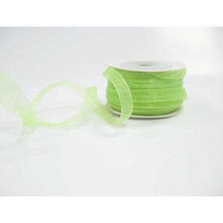 Органза, цвет светло-салатовый,7мм