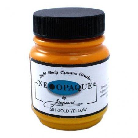 Акриловая краска JACQUARD NEOPAQUE - 581 GOLD YELLOW (Желтое золото)