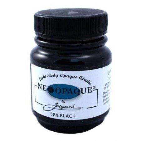 Акриловая краска JACQUARD NEOPAQUE - 588 BLACK (Черный)