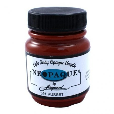 Акриловая краска JACQUARD NEOPAQUE - 591 RUSSET (Красновато- коричневый)