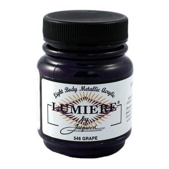 Акриловая краска JACQUARD LUMIERE - 546 GRAPE (Фиолетовый)