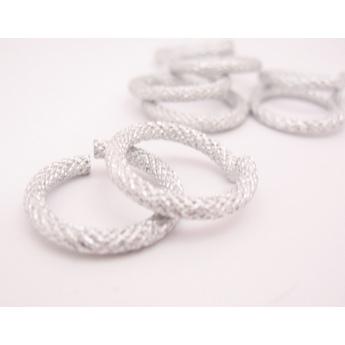 Соеденительные кольца пандора металлические, цвет серебро, 2 см