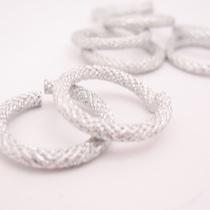 Соеденительные кольца пандора металлические, цвет серебро, 2,7 см