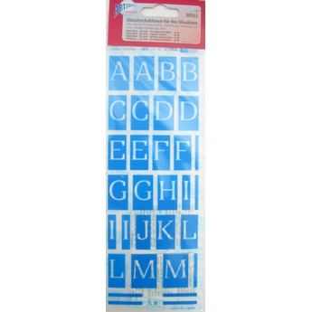 Самоклеющийся трафарет буквы Creartec №30552