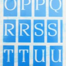 Самоклеющийся трафарет буквы Creartec №30553