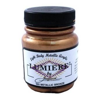 Акриловая краска JACQUARD LUMIERE - 565 METALLIC BRONZE (Металлическая бронза)