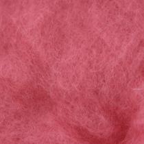 Шерсть новозеландский кардочес К4004 (27мк.), розовый,25г