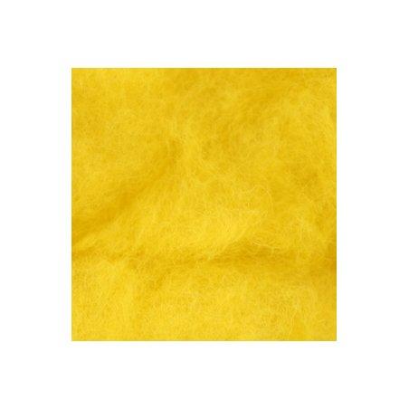 Шерсть новозеландский кардочес К2003 (27мк.), желтый, 25 г