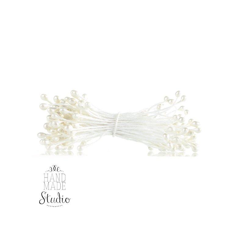 Цветочные тычинки белые №80