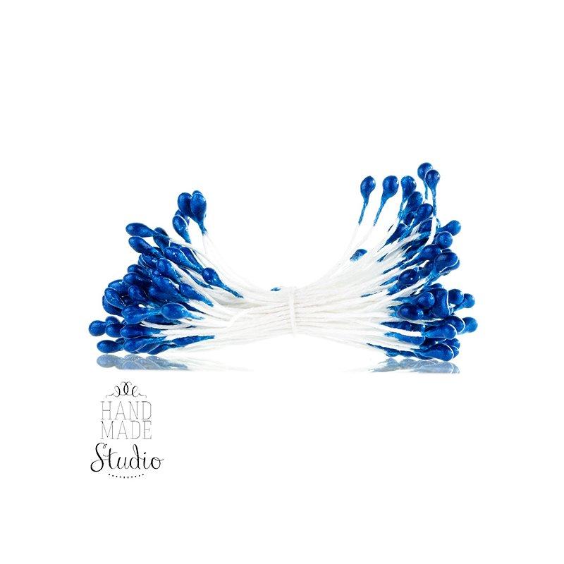 Цветочные тычинки синие №74