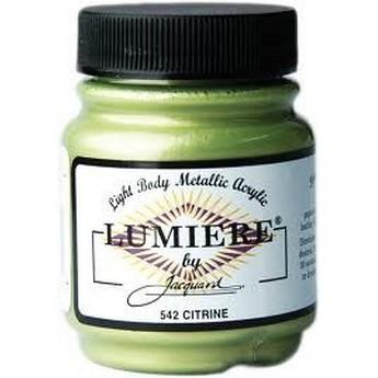 Акриловая краска JACQUARD LUMIERE - 542 Citrine (Лайм)