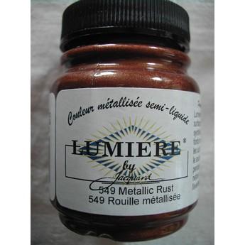 Акриловая краска JACQUARD LUMIERE - 549 Metallic Rust (Металлическая ржавчина)