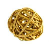 Шарик из ротанга, цвет натуральный, 3 см.