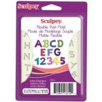 """Гибкая форма Sculpey """"Буквы и цифры"""""""