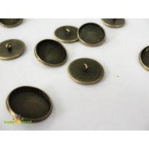 Основа для пуговицы круглая с краями, бронза